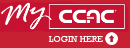 My ccac portal logo, rectangular with a fancy My and plain CCAC