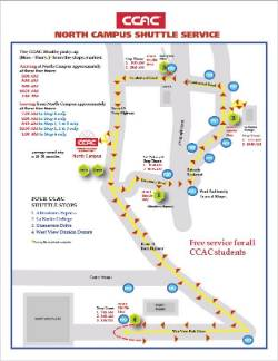 North Campus Shuttle Map Image