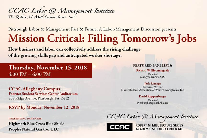 MISSION CRITICAL: FILLING TOMORROW'S JOBS invitation