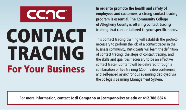 Contact tracing business flyer